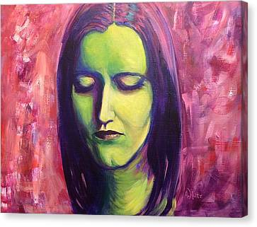 Canvas Print featuring the painting Beautiful Dreamer by Arlene Holtz