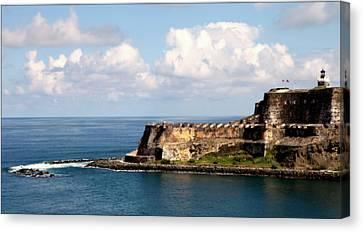 Puerto Rican Canvas Print - Beautiful El Morro by Karen Wiles