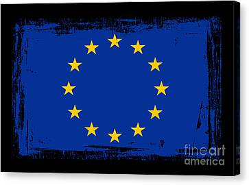 Beautiful European Union Flag Canvas Print