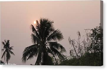 Beautiful Evening Canvas Print by Gornganogphatchara Kalapun