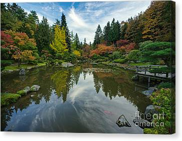 Beautiful Fall Japanese Garden Canvas Print by Mike Reid