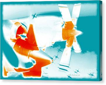 Canvas Print featuring the photograph Fixed Wing Aircraft Pop Art Poster by R Muirhead Art