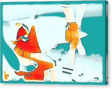 Canvas Print featuring the photograph Fixed Wing Aircraft Pop Art by R Muirhead Art