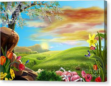 Beautiful Flower Art Canvas Print by Boon Mee