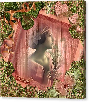 Canvas Print featuring the digital art Beautiful Fragility - Vintage Scrap Art By Giada Rossi by Giada Rossi