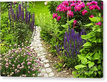 Beautiful Gardening Canvas Print by Boon Mee