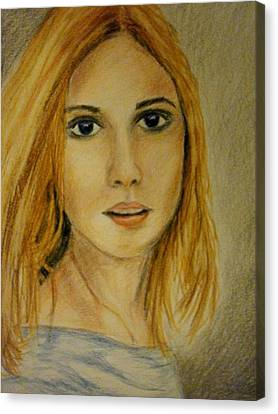 Beautiful Girl Canvas Print by Constantinos Charalampopoulos