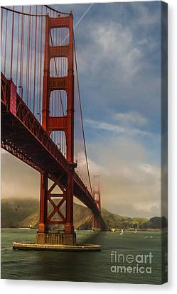 Beautiful Golden Gate Canvas Print by Mitch Shindelbower