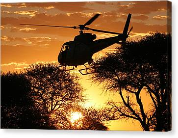 Beautiful Helicopter Canvas Print by Paul Job