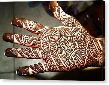 Beautiful Henna Canvas Print