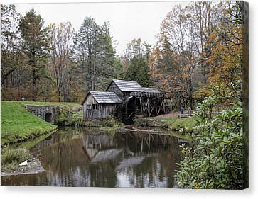 Beautiful Historical Mabry Mill Canvas Print by Kathy Clark