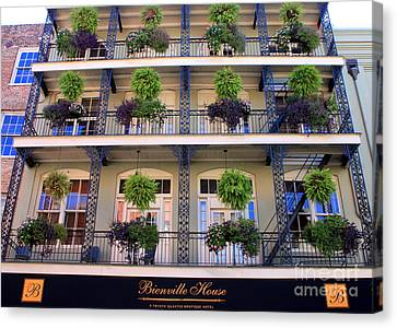 Beautiful Hotel In New Orleans Canvas Print by Carol Groenen
