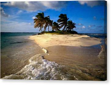 Canvas Print featuring the painting Beautiful Island by Bruce Nutting
