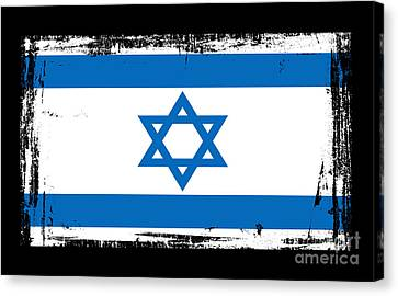 Jerusalem Canvas Print - Beautiful Israel Flag by Pamela Johnson