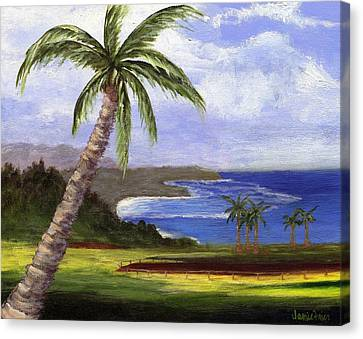 Canvas Print featuring the painting Beautiful Kauai by Jamie Frier