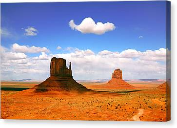 Beautiful Landscape Of  Monument Valley Arizona Canvas Print by Katrina Brown
