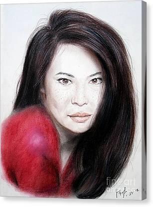 Beautiful Lucy Liu Canvas Print by Jim Fitzpatrick