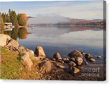 Beautiful Morning On Island Pond Canvas Print