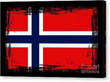 Beautiful Norway Flag Canvas Print by Pamela Johnson