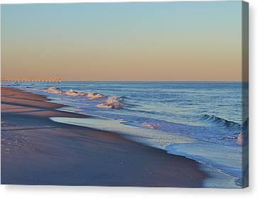 Beautiful Ocean In Nc Canvas Print by Cynthia Guinn