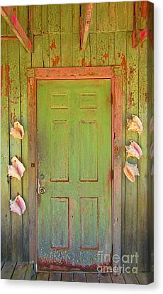 Beautiful Old Door With Seashells Canvas Print by John Malone