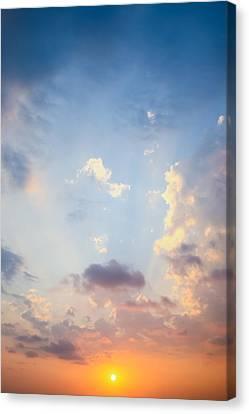 Beautiful Orange Sunset Canvas Print by Nila Newsom