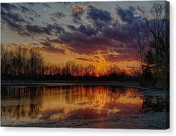 Beautiful Palestine Lake Canvas Print by Michael J Samuels