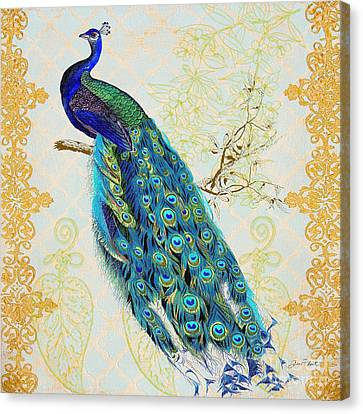 Beautiful Peacock-b Canvas Print by Jean Plout