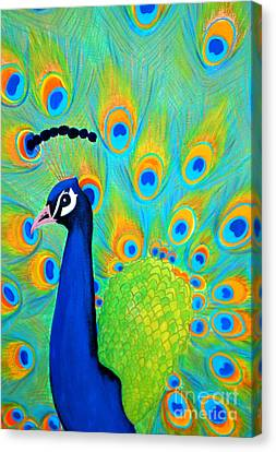 Beautiful Peacock  Canvas Print by Oksana Semenchenko