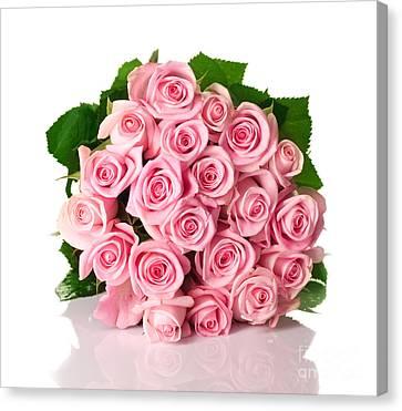 Beautiful Pink Rose Bouquet Canvas Print