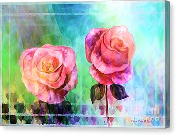 Beautiful Pink Roses Canvas Print