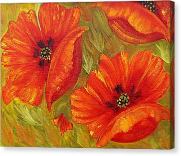Beautiful Poppies Canvas Print