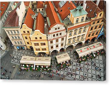 Beautiful Prague From Above - Lovely Old Houses Canvas Print by Matthias Hauser
