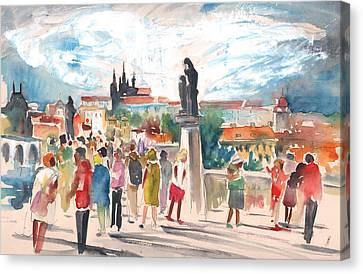 Beautiful Prague Canvas Print by Miki De Goodaboom