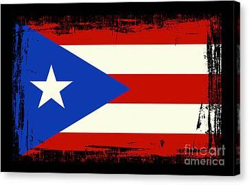 Puerto Rico Canvas Print - Beautiful Puerto Rico Flag by Pamela Johnson