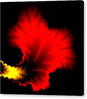 Beautiful Red And Yellow Floral Fractal Artwork Square Format Canvas Print by Matthias Hauser