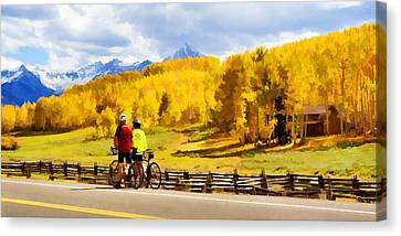 Beautiful Rest Stop Canvas Print by Rick Wicker