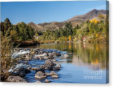 Beautiful River Canvas Print by Robert Bales