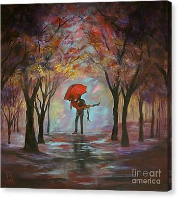 Beautiful Romance Canvas Print by Leslie Allen