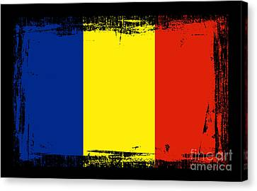 Beautiful Romania Flag Canvas Print by Pamela Johnson