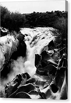 Beautiful Creek Canvas Print - Beautiful Rushing Water by Retro Images Archive