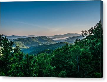 Beautiful Scenery From Crowders Mountain In North Carolina Canvas Print