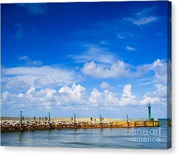 Beautiful Sea Sky Canvas Print by Boon Mee