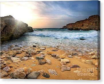 Beautiful Sea Stones Canvas Print by Boon Mee