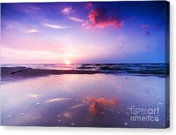 Beautiful Sea Sunrise Canvas Print by Michal Bednarek