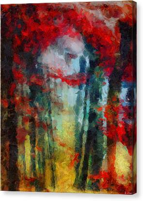 Canvas Print featuring the painting Beautiful Secrets by Joe Misrasi