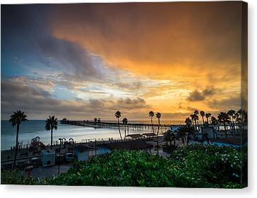 Beautiful Southern California Sunset Canvas Print by Larry Marshall