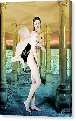 Beautiful Spanish Women Canvas Print by Quim Abella