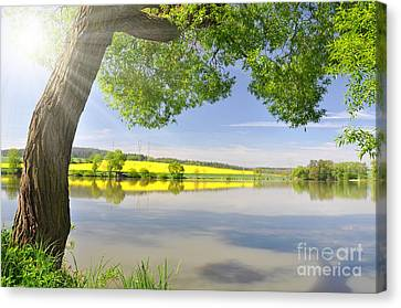 Beautiful Spring Landscape Canvas Print by Boon Mee