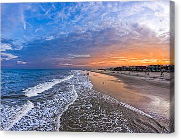 Beautiful Sunset Over Tybee Island Canvas Print